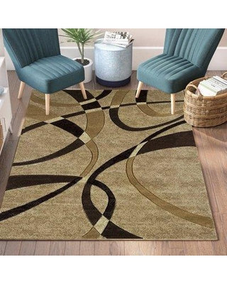 "Ebern Designs Dov Chocolate Rug W000844686 Rug Size: Runner 2'7"" x 7'4"""