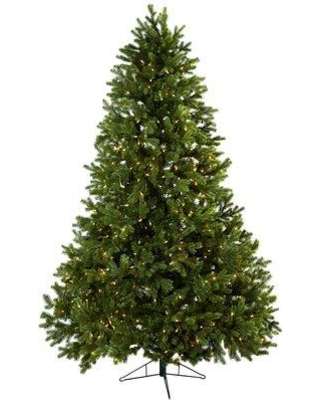 Darby Home Co Royal Grand 7.5' Green Pine Artificial Christmas Tree with 800 Clear Lights DBYH8132