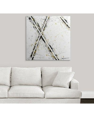"""Great Big Canvas 'Marks the Spot' Graphic Art Print 2405373_1 Size: 35"""" H x 35"""" W x 1.5"""" D Format: Canvas"""