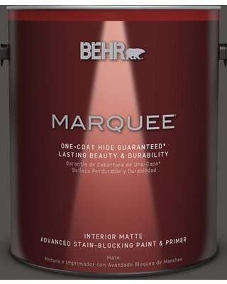 BEHR MARQUEE 1 gal. #PPU24-02 Berry Brown Matte Interior Paint and Primer in One