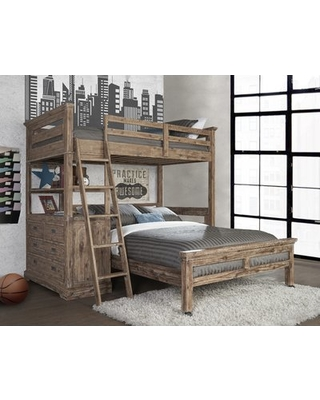 Viv Rae Bryon Twin Over Full L Shaped Bunk Bed With 4 Drawer Chest And Lower Bed From Wayfair Bhg Com Shop
