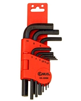 Genius Tools HK-09MS 9 Piece L-Shaped Metric Hex Wrench Set S2