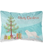 The Holiday Aisle Geary Kuvasz Christmas Indoor/Outdoor Throw Pillow BF148686