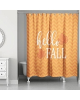 The Holiday Aisle Hello Fall Chevron Shower Curtain THDA5372