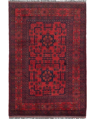 Hand-knotted Finest Khal Mohammadi Red Wool Rug - 3'3 x 4'10 (Red - 3'3 x 4'10)
