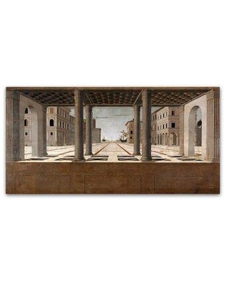 "Trademark Fine Art 'Architectural Veduta' Print on Wrapped Canvas AA00585-C Size: 24"" H x 47"" W"