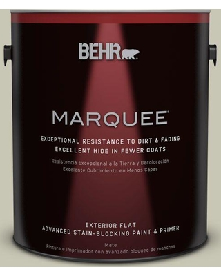 BEHR MARQUEE 1 gal. #PPU10-10 Ocean Foam Flat Exterior Paint and Primer in One
