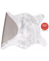 Home Must Haves Rug with Soft Shaped Faux Bedroom & Living Room Suitable for Fur Chair Couch Cover Sofa, 2' x 3', White