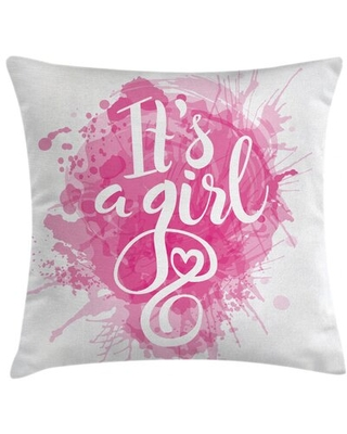 """It's A Girl Indoor / Outdoor 36"""" Throw Pillow Cover East Urban Home"""