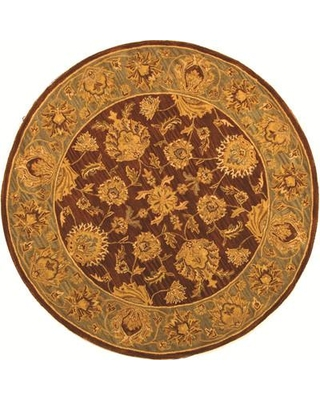 Charlton Home Cranmore Hand-Tufted Wool Gold/Brown Area Rug CHLH6066 Rug Size: Round 8'