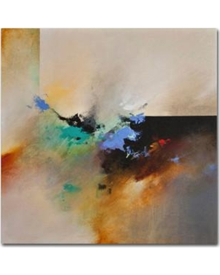 """Trademark Art 'Clouds Connected I' Graphic Art on Wrapped Canvas ALI0272-C Size: 18"""" H x 18"""" W x 2"""" D"""