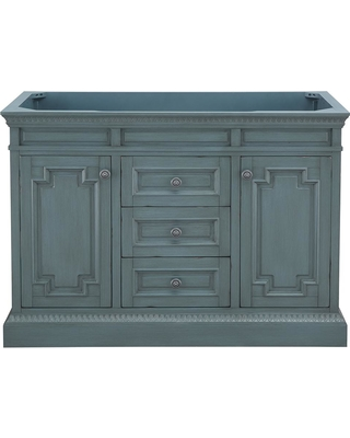 Home Decorators Collection Home Decorators Collection Cailla 48 In W X 21 50 In D Bath Vanity Cabinet Only In Distressed Blue Fog From Home Depot
