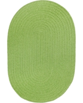 Joy Braids Solid Lime 8 ft. x 11 ft. Oval Indoor/Outdoor Braided Area Rug