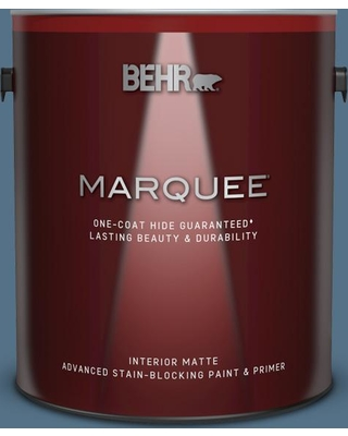 BEHR MARQUEE 1 gal. #580F-6 Lost Atlantis Matte Interior Paint and Primer in One