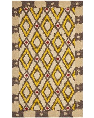 Bungalow Rose Puri Hand-Hooked Beige/Yellow Area Rug BNGL6626 Rug Size: Rectangle 5' x 8'