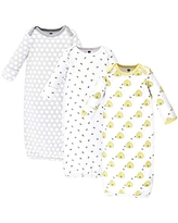 Hudson Baby Unisex Cotton Gowns, Bees, 0-6 Months