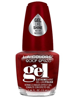 L.A. Colors Gel Shine Nail Polish, Red Carpet Ready, 0.44 Fluid Ounce (Pack of 3)
