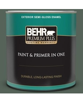 Special Prices On Behr Premium Plus 1 Gal Ppf 45 Woodland Moss Satin Enamel Exterior Paint And Primer In One