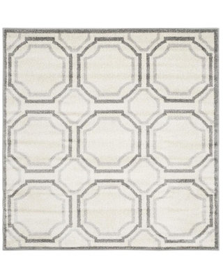 Safavieh Amherst Mosaic 5 x 5 Ivory/Light Gray Square Indoor or Outdoor Geometric Area Rug | AMT411E-5SQ