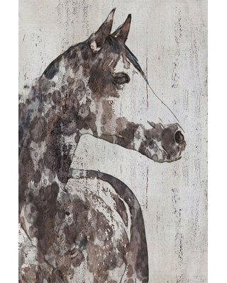 """Marmont Hill 'Rocky Horse' by Irena Orlov Painting Print on Wrapped Canvas MH-MWWORLOV-37-C Size: 36"""" H x 24"""" W x 1.5"""" D"""