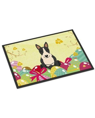 """The Holiday Aisle Saroyan Bull Terrier Non-Slip Outdoor Door Mat HDAY2281 Color: Black/White Mat Size: 18"""" W x 27"""" L"""