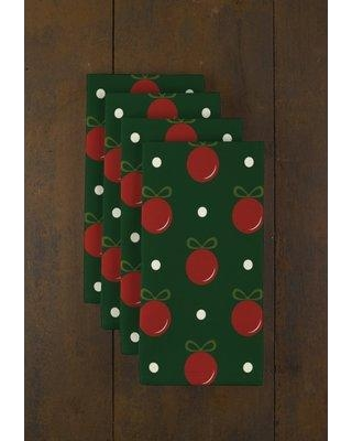 """Fabric Textile Products Inc. Christmas Ornaments 18"""" Napkins RQ-RT70-CL69 Color: Green"""