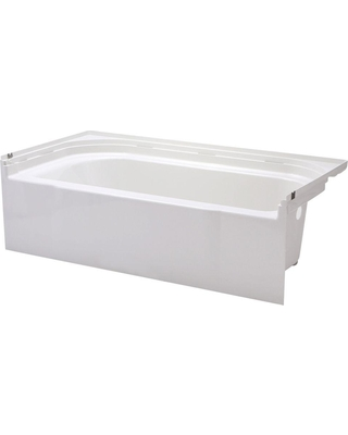 STERLING Accord 5 ft. Right Drain Rectangular Alcove Soaking Tub in White