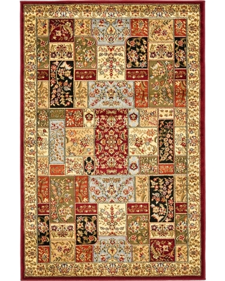 """Blue Floral Loomed Accent Rug 3'3""""X5'3"""" - Safavieh, White"""