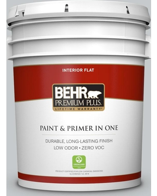 BEHR Premium Plus 5 gal. #PPU26-17 Fast as the Wind Flat Low Odor Interior Paint and Primer in One