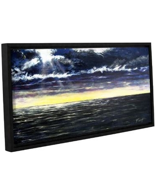 "Breakwater Bay Ravage Sea Framed Painting Print on Wrapped Canvas BRWT6773 Size: 6"" H 12"" W"