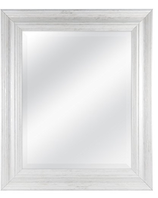 MCS 16 by 20 inch Scoop Mirror, 21.5 by 25.5 inch Outside Dimension, White Wash Finish 20546, 21.5 x 25.5 Inch