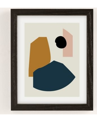 mpgmb Shape Study 1 Lola Collection Art Print - Grey 30X40 at Urban Outfitters