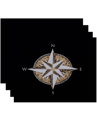 """Simply Daisy 18"""" x 14"""" Compass Geometric Print Placemat"""