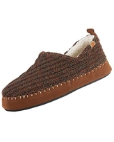 Acorn Women's Camden Recycled Moccasin Slippers with Berber lining, Walnut, X-Large