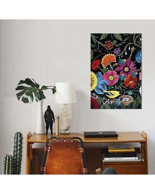 """East Urban Home 'Finch' Graphic Art Print on Canvas EBHU7815 Size: 12"""" H x 8"""" W x 0.75"""" D"""