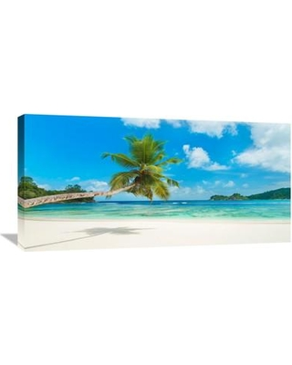 """Global Gallery Tropical Beach Seychelles Photographic Print on Wrapped Canvas GCS-463378-1224-142 / GCS-463378-1836-142 Size: 18"""" H x 36"""" W x 1.5"""" D"""