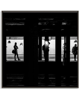 "PHLA 'Waiting' Photographic Print 14AL - P26 Size: 30"" H x 30"" W x 2"" D Format: Black Floater Framed Canvas"
