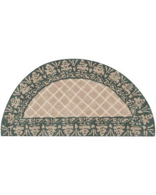 Darby Home Co Caine Hand Tufted Ivory/Green Indoor Area Rug DBHM7993 Rug Size: Semi Circle 2' x 4'