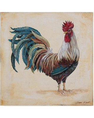 """Trademark Art 'Rooster 4' Print on Wrapped Canvas ALI37420-CGG Size: 18"""" H x 18"""" W x 2"""" D"""