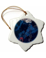 Shop Deals On The Holiday Aisle Usa Colorado Boulder Flagstaff Mountain Snowflake Holiday Shaped Ornament Ceramic Porcelain In Red Size 3 H X 3 W Wayfair