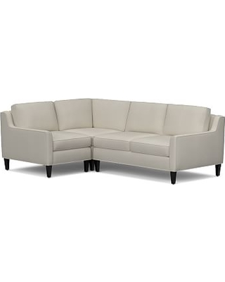 Beverly Upholstered Right Arm 3 Piece Corner Sectional, Polyester Wrapped Cushions, everydaysuede(TM) Stone