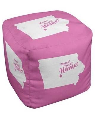 East Urban Home Home Sweet Des Moines Ottoman in Cube Insert (13 x 13 x 13) EBJC3480 Upholstery Color: Pink