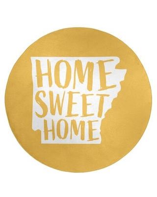 Home Sweet Arkansas Poly Chenille Rug East Urban Home