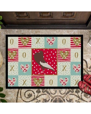 Spectacular Savings On The Holiday Aisle Dev English Pouter Pigeon Love 27 In X 18 In Non Slip Indoor Outdoor Door Mat X113621859
