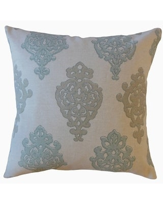 The Pillow Collection Palti Damask Decorative Throw Pillow (Blue - 20 x 20 - Square)