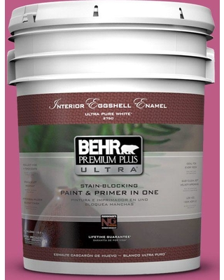 BEHR Premium Plus Ultra 5 gal. #P120-5 Beauty Queen Eggshell Enamel Interior Paint and Primer in One