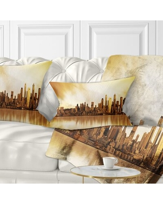 Landscape Seattle Panorama Lumbar Pillow East Urban Home
