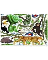 """Jungle Exploration Wall Decal iStickUp Size: 37"""" H x 57"""" W"""