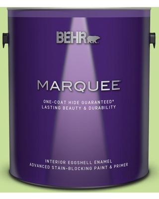 BEHR MARQUEE 1 gal. #420A-3 Key Lime Eggshell Enamel Interior Paint and Primer in One
