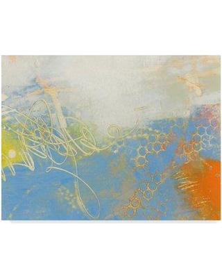 """Ebern Designs 'Blue Lux II' Acrylic Painting Print on Wrapped Canvas X112348404 Size: 18"""" H x 24"""" W x 2"""" D"""